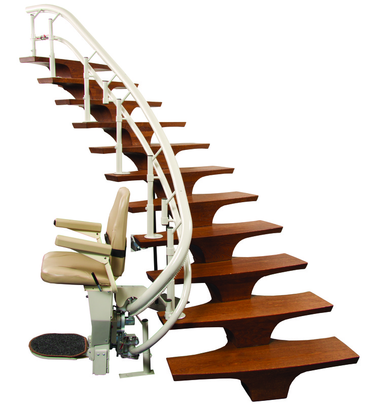 harmar helix curved stair lift los ange3les ca stairchair